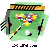 Vector Clip Art graphic  of a Pool/billiards
