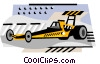 Vector Clipart graphic  of a Drag Racing