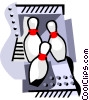 Vector Clipart image  of a Bowling pins