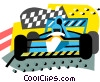 Vector Clip Art image  of an Auto Racing