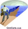 Vector Clipart graphic  of a Parting of the sea