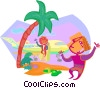 Person on vacation Vector Clipart illustration