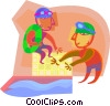 Vector Clip Art image  of a Swimming lessons