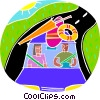 Vector Clip Art picture  of a Road trip