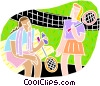 Vector Clipart image  of a Tennis