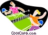 Playing Ping pong Vector Clipart picture