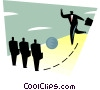 Vector Clipart graphic  of a figure illustrating business concept