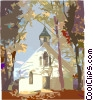 Traditional Church Vector Clipart picture