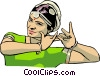 Vector Clipart graphic  of a Woman performing traditional dance