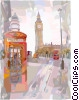 Big Ben in London Vector Clip Art graphic