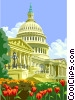 The Capitol building, Washington, D.C. Vector Clipart illustration