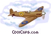 British Spitfire, WWll Vector Clip Art picture