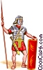 Roman Legionary Vector Clipart illustration