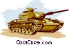 Tank ready to fire Vector Clipart image