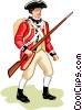 Vector Clip Art graphic  of an American Revolution - British