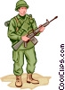 Vector Clip Art graphic  of a Soldier