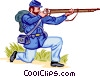 U.S. Federal Infantry Vector Clipart image