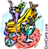 Vector Clipart illustration  of a Tropical beverages