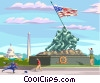 Vector Clipart picture  of a Marine Corp Memorial statue