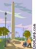 Vector Clipart illustration  of a Washington monument