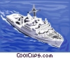 Coast Guard / Frigate Vector Clip Art graphic