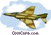 Vector Clipart image  of a U.S. Fighter Jet