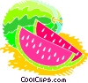 Vector Clipart image  of a Melons