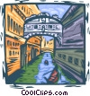 Venice, Italy Vector Clipart illustration