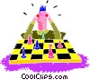 Vector Clipart illustration  of a Chess match
