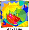Melons Vector Clip Art graphic