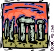 Vector Clip Art image  of a Stonehenge