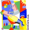 Vector Clipart picture  of a Dentist