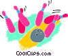 Vector Clipart graphic  of a Bowling