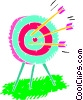 Vector Clip Art image  of a Target with arrows