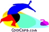 Curling Vector Clip Art picture