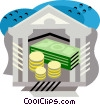 Vector Clip Art graphic  of a Money/bank