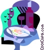 Vector Clip Art image  of a Fine dining
