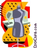 Sewing equipment Vector Clip Art picture