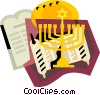Vector Clip Art image  of a Jewish religious items