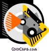 Vector Clipart picture  of a CD/tape