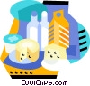 Vector Clipart image  of a Dairy products