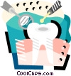 Vector Clip Art graphic  of a Dentist