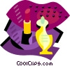 Vector Clip Art image  of a Cosmetics