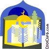 Vector Clipart image  of a Religious items