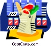 Grocery store Vector Clipart illustration