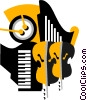 Musical instruments Vector Clip Art graphic