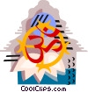 Vector Clipart graphic  of a Religious items
