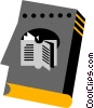 Vector Clip Art image  of a Reading Book