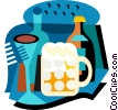 Vector Clipart graphic  of a Beverages