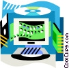 Vector Clipart image  of a Computer equipment